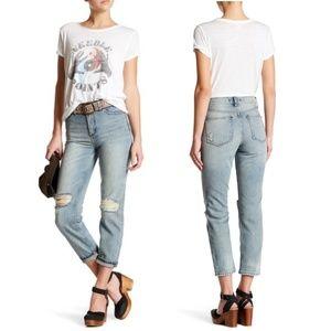 Free People 'Destroyed Syxx' Boyfriend Jeans